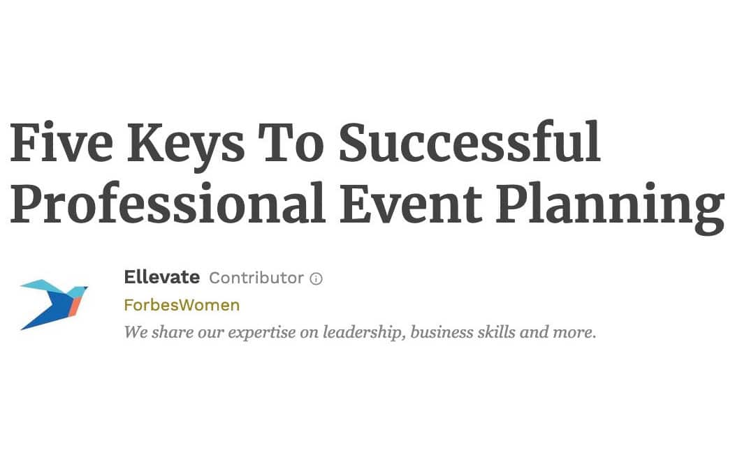Amy Adams Featured in Forbes – Five Keys To Successful Professional Event Planning