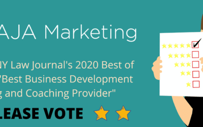 AJA Marketing Nominated for NY Law Journal's 2020 Best of Survey!