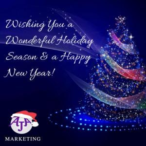 Happy holidays from AJA Marketing
